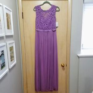 NWT David's Bridal Bridesmaid Dress w/ Lace Bodic